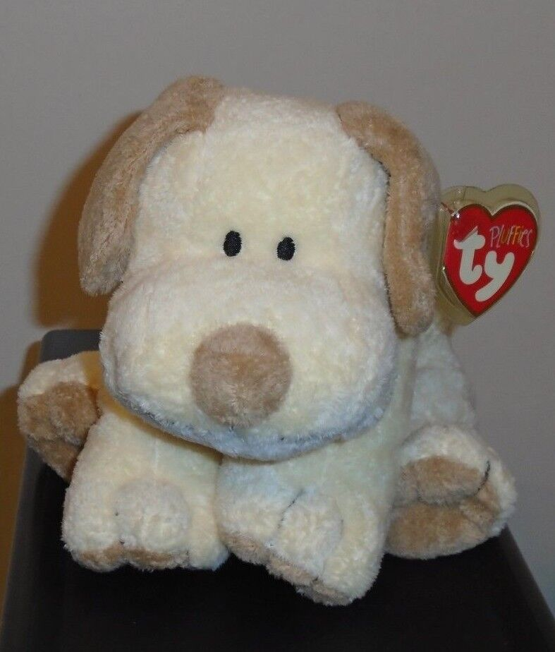 Ty Pluffies  PLOPPER the Dog (7.5 Inch) MWMT  Stuffed Plush Toy