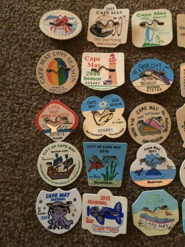 Nj Beach Tags Badges 1994 2018 Multi