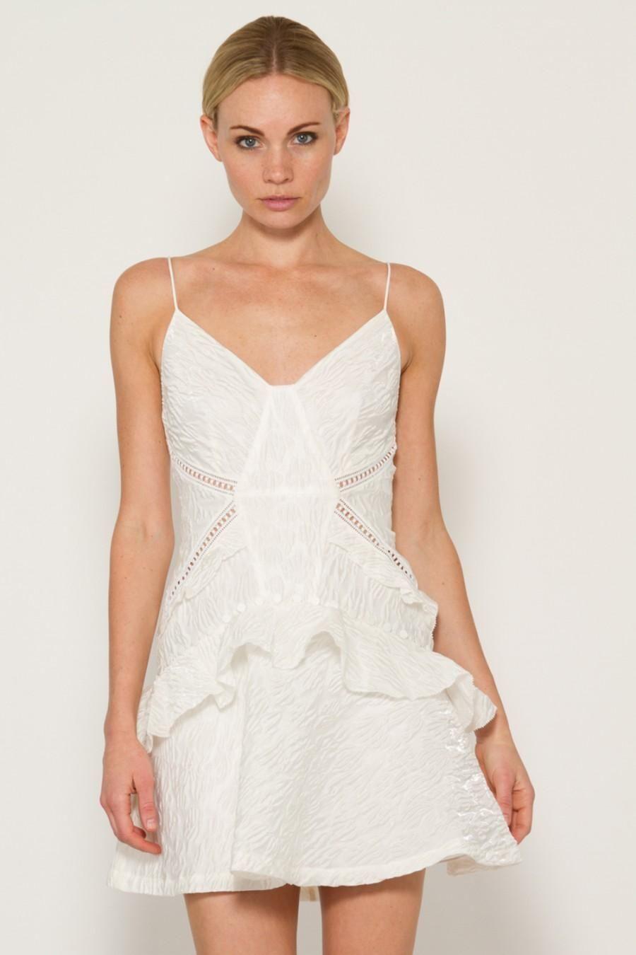 Mini Vestido blancoo Jacquard autorretrato  auténtico 2 4 nos Nuevo Con Etiquetas  425  costo real