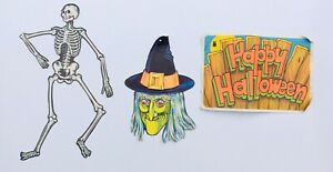 Halloween Decoration Beistle Paper USA Jointed Skeleton ...