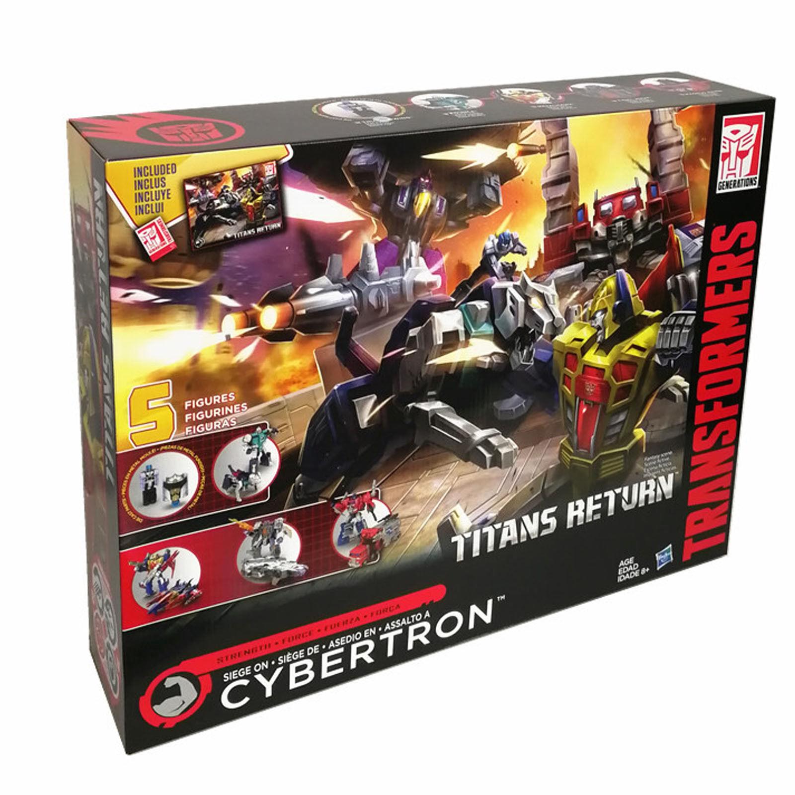 Transformers Titanes retorno Siege en Cybertron 5 Figuras De Acción Figura Colección
