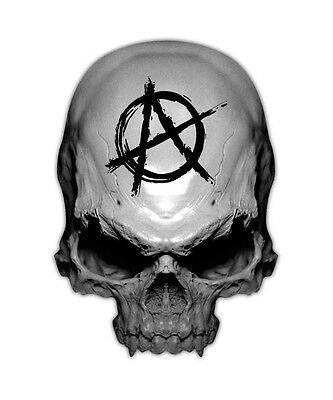 Anarchy Skull Decal - State of Disorder Sticker Decals