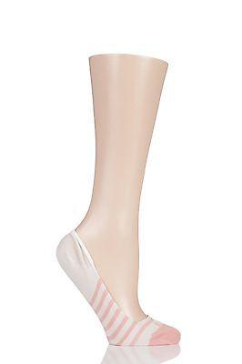 Damas 1 Par Elle Rayas Calcetines Forro de zapatos de bambú Transparente