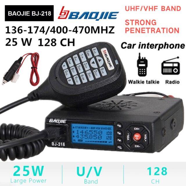 VHF/ UHF Mini Mobile Car Transceiver Dual Band FM Radio Walkie Talkie + Mounting