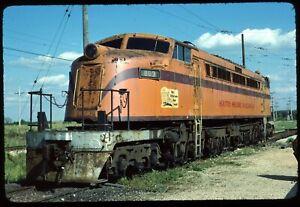 Original Rail Slide - CSS Chicago South Shore 803 IRM Union IL 9-19-1982