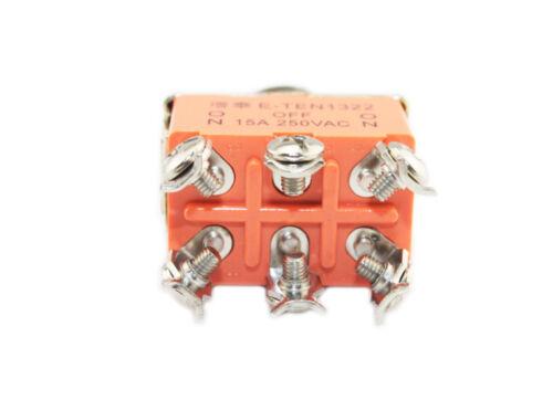 1 Gros Interrupteurs E-TEN 15A 250V 2RT ON//OFF//ON  NEUFS 1322