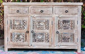 Details About Hamptons Carved Shabby Chic French Country Sideboard Buffet Cabinet