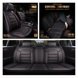 Full-Set-Auto-Chair-Cushion-PU-Leather-5Seat-Car-Seat-Cover-Pad-Breathable-3D