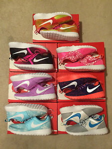 0f8231b3d056 Nike Roshe Run One Women s Size 8 or Youth 6.5Y Knit Printed New ...