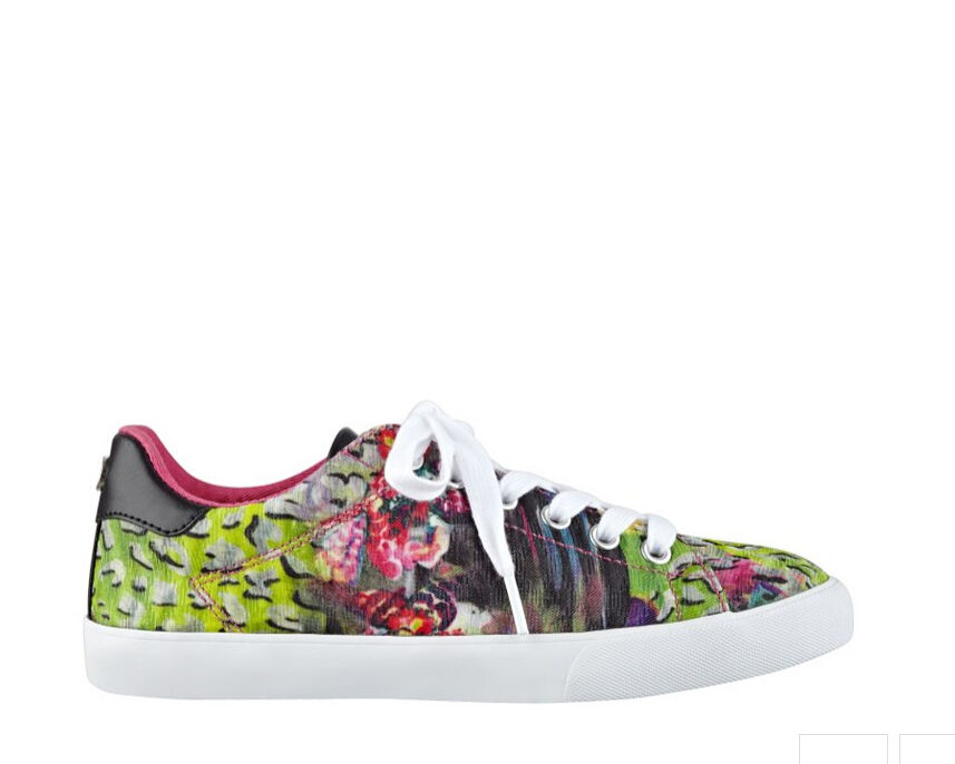 NIB GUESS Maegan Logo Fashion Sneakers Sneakers Sneakers Keds Floral Multi color sz US 7, EU 37.5 0f75dc