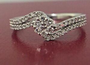 18Carat-White-Gold-amp-Round-Diamond-Ring-0-30-carats-GH-SI-Hallmark