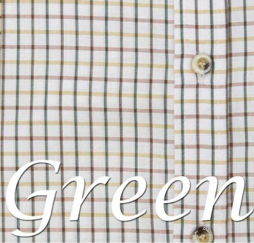 New Mens 1 or 2 Pk Champion Tattersall Cotton Check Short Sleeve Shirt UK M-3XL