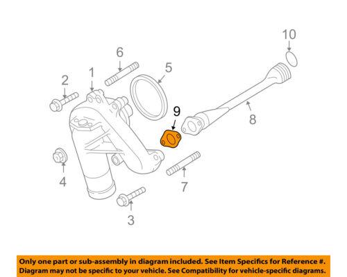 GM OEM Water Pump-Outlet Pipe Gasket 12635594