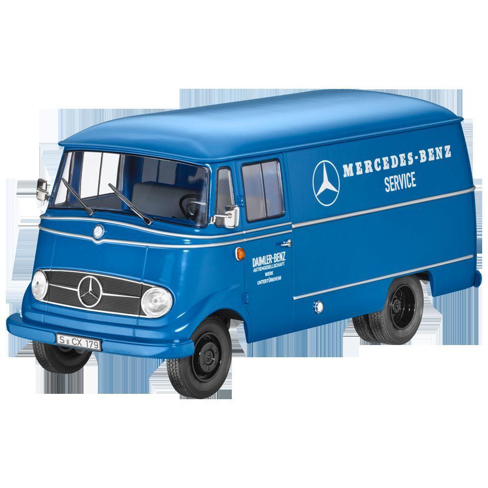Mercedes Benz Trasportatore L 319 Service Blu 1:18 Nuovi Conf. Orig.