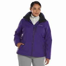 629c3279524 Columbia Women s Plus Size Slope Sweetie Hooded 3-in-1 Systems Jacket ~ NWT