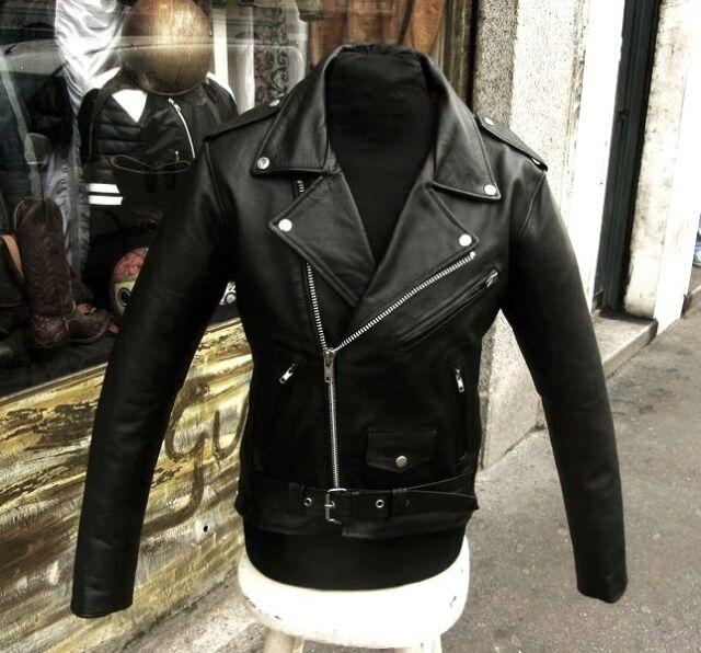 Giubbotto giacca chiodo pelle uomo taglie grandi metal rock XL-XXL-3XL-4XL-5XL