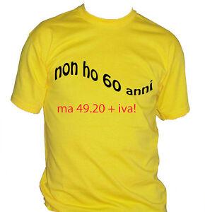 Fm10 T Shirt Uomo 60 Anni Compleanno Divertente Idea Regalo Festa