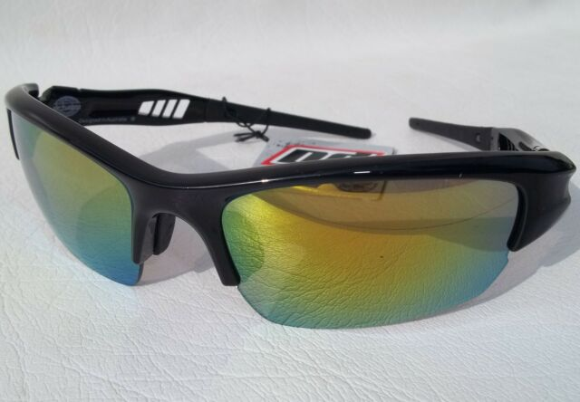 7cf68cc1668b DIRTY DOG VIZ SPORTS SUNGLASSES SAIL CYCLING SKI CAT 3 GOLD MIRROR LENS  BLACK