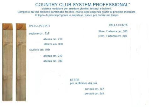 PALO PINO IMPREGNATO 7X7X300H,PANNELLO,STECCATO,RECINTO