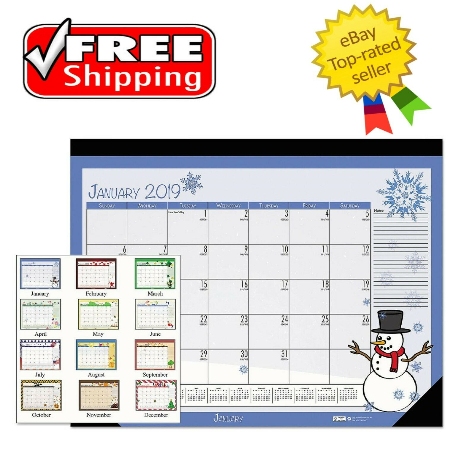 "House of Doolittle 2020 Monthly Desk Pad Calendar Economy 18.5/"" x 13/"" 24395023"