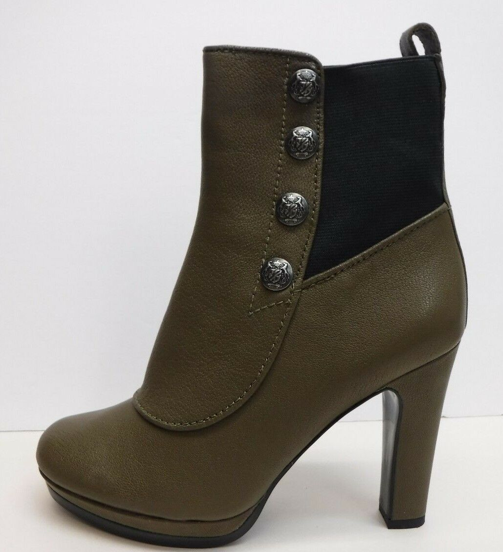 Juicy Couture Größe 8 Mouse Gray Ankle Stiefel Heels New Damenschuhe Schuhes