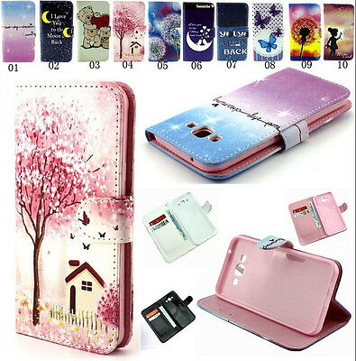 Magnetic Flip PU Leather Rubber Stand Wallet Case Cover Stand For Various Phone