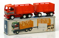 Vintage Grip Plastic Friction Bison Turbo Cattle Truck Made In GDR * MIB *