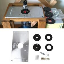 Dewalt no 610 router table plate w 4 insert rings ebay aluminum router table insert plate w 4 rings screws for woodworking benches greentooth Image collections