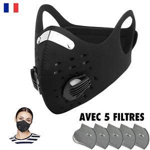 Protection Anti Pollution & Anti Poussière, Avec CINQ Filtres, Lavable, Noir