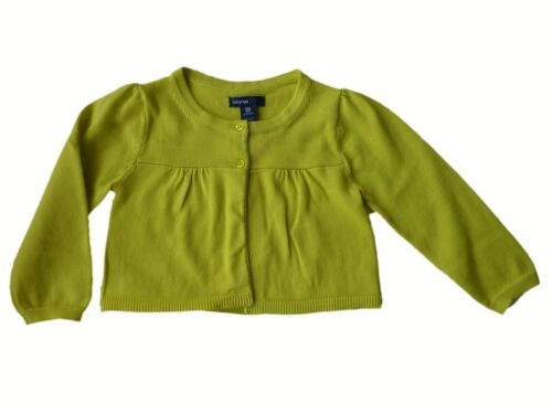 Baby GAP Girls Cardigan LIME Knitted Cotton Boho Button Top 3-6 m £12.95