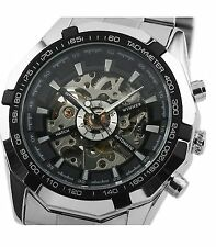 ESS Men's Black Dial Mechanical Stainless Steel Watch -WM257 - Imported