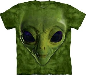 Sci T Adulto Unisex shirt Face The Mountain Fi Alien verde qU1qr4
