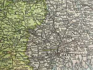 1919 LARGE MAP INDIA BURMA CALCUTTA BENGAL ORISSA BIHAR eBay
