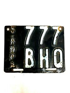 1964 Original Province Rosario Argentina  Motorcycle License Plate #F-30