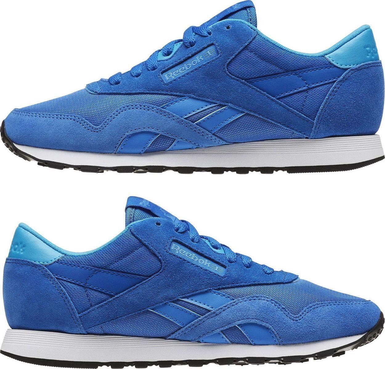 Reebok damen damen Turnschuhe Gr 40 BD1776 Classic Leather Nylon MH Echo Blau Sport