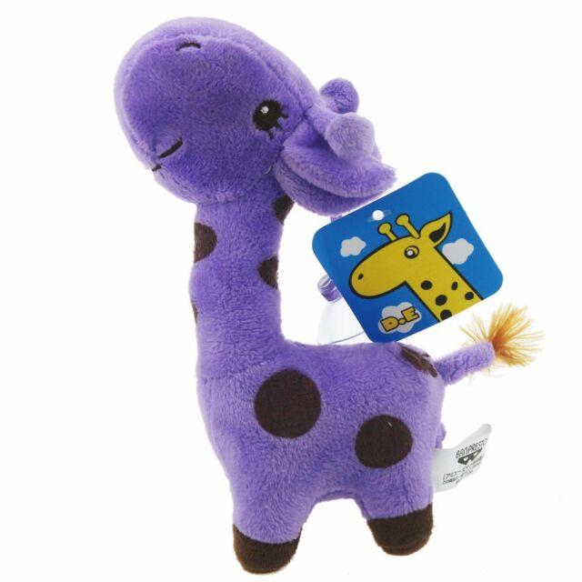 Purple Colors Mini Deer Giraffe Stuffed Animals Soft Toys Plush Doll