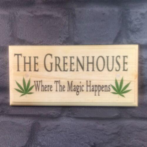 El efecto invernadero-donde la magia ocurre-Placa Cartel Regalo-hierba Stoner 250