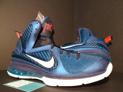 b3277132a NIKE LEBRON IX 9 SWINGMAN GREEN ABYSS WHITE OBSIDIAN BLUE RED 469764-300  NEW 8.5