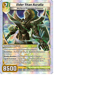 Kaijudo-1X-ELDER-TITAN-AURALIA-Super-Rare-S8-S10-10INV-Invasion-Earth-2014