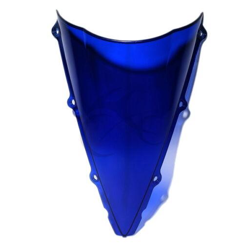 New  Bubble Blue Acrylic Windshield Windscreen For Yamaha YZF R1 2002-2003