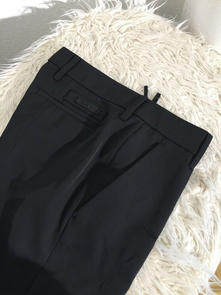 PRADA Hose NEU ital.Gr.38   also 32 34 NP 460,-Euro black LUXUS satin look