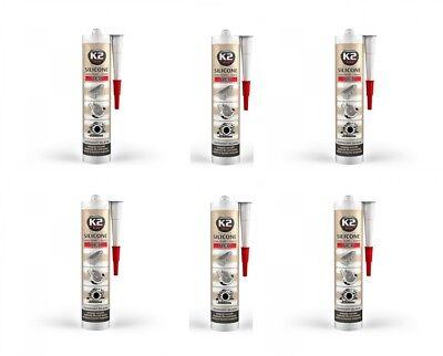 6x K2 Silikon Silikon Hochtemperatur Dichtmasse 350° Rot 300g Sonstige