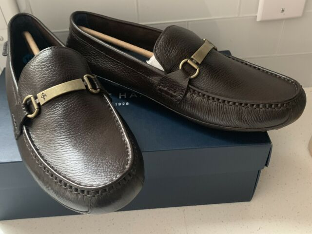 New Cole Haan Provincetown Bit Driving Loafers Brown Pebbled Leather Mens Sz 13