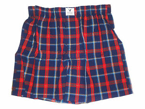 AMERICAN EAGLE OUTFITTERS PLAID BOXER SHORTS SIZE L (35-38)