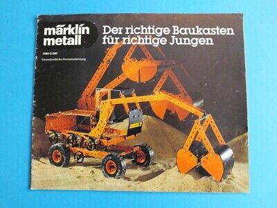 Märklin Metall Baukasten Prospekt 1980