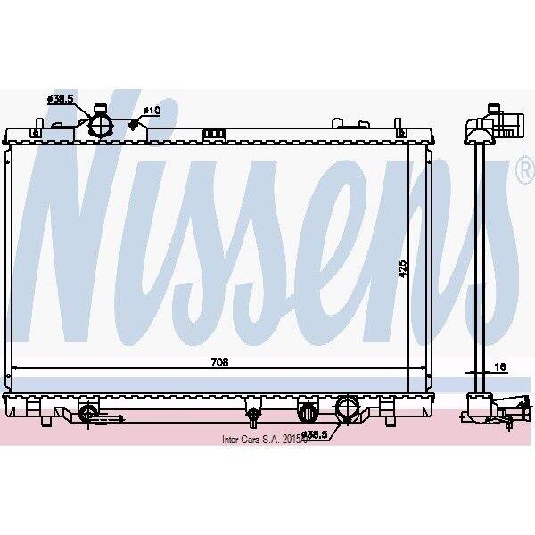 Kühler Motorkühlung NISSENS 646819