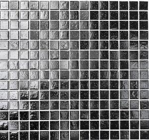 Mosaik-schwarz-black-mit-Spots-Glasmosaik-Fliese-Bad-Dusche-Art-RL110-Restposten
