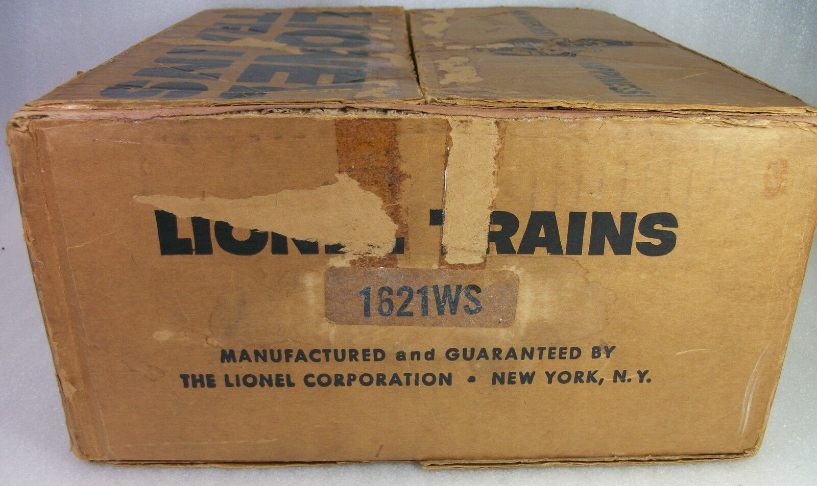LIONEL  PREVIOUSLY UNDOCUMENTED 1621WS BROWN CORREGATED SET BOX