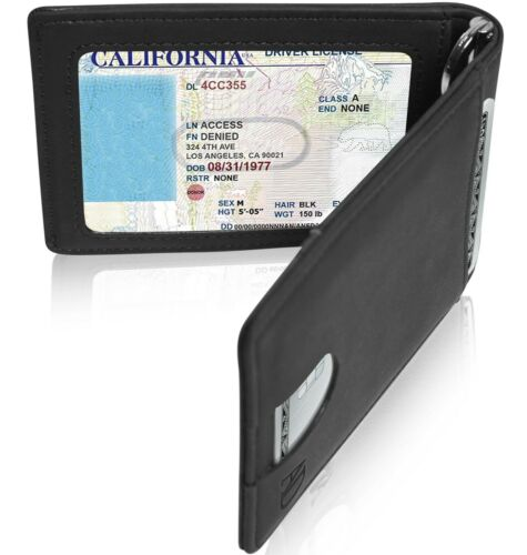 Slim Wallets For Men Bifold Mens Wallet With Removable Money Clip RFID Blocking