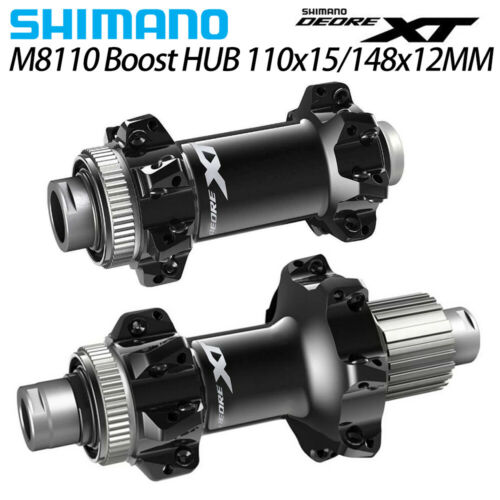 Shimano XT HB-M8110//FH-M8110-BS Center-Lock  Boost 148mm Hub front/&rear 28H